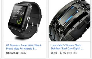 Наручные часы на ebay